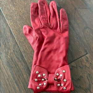 MICHAEL Michael Kors Accessories - Red leather Michael Kors gloves size 7 used